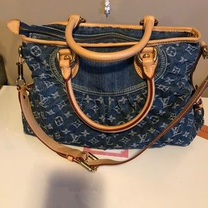 Authentic monogram denim plenty purse